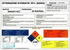 JUAL HYDRAZINE (OXYGEN SCAVENGER)