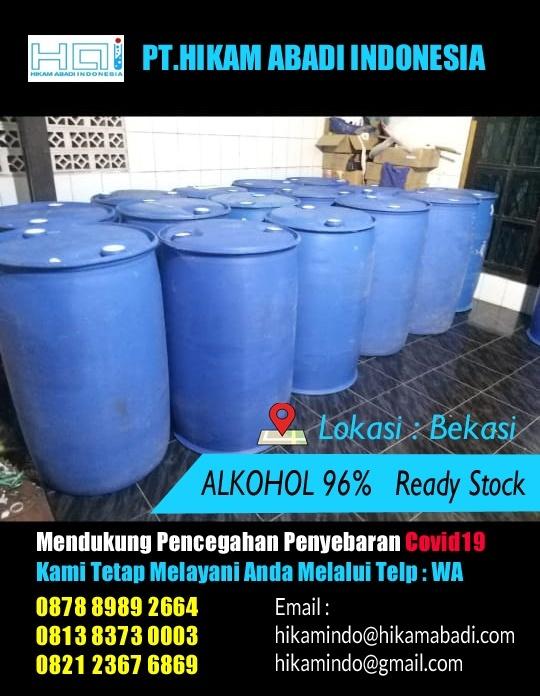 Jual Alkohol 96% di Bekasi