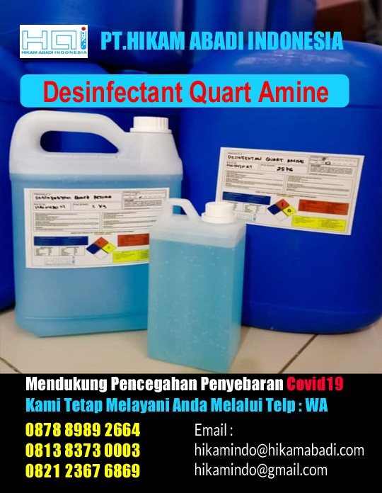 Ready Stock Desinfectant Quart Amine / Desinfektan